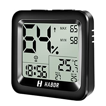 Amazon.com : Habor Digital Hygrometer Thermometer with High Accuracy ...