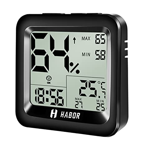 Amazon.com: Habor Digital Hygrometer Thermometer with High ...
