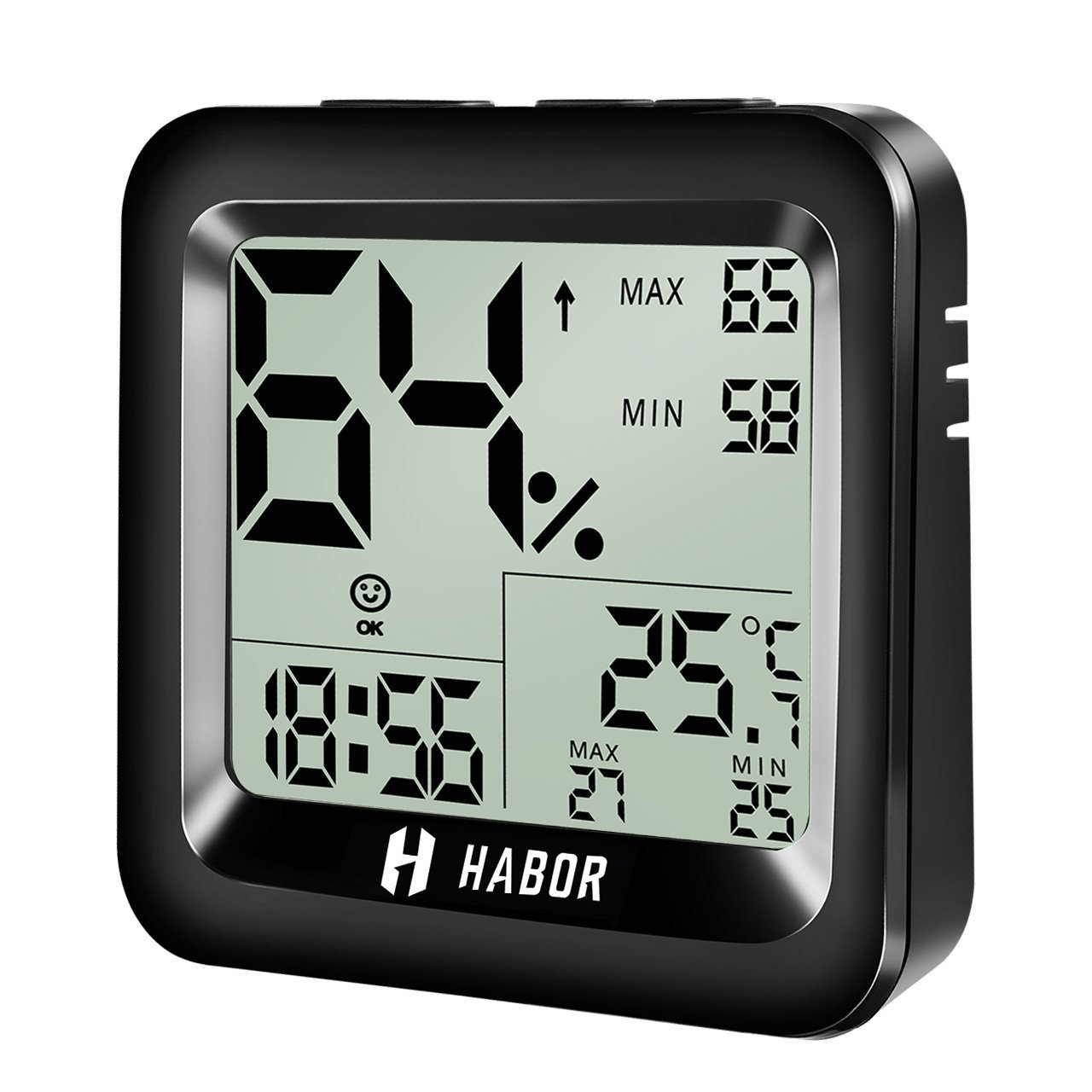 Habor Digital Hygrometer Thermometer with High Accuracy Indoor Temperature Humidity Monitor with Comfort Level Icon Table Standing Wall Hanging