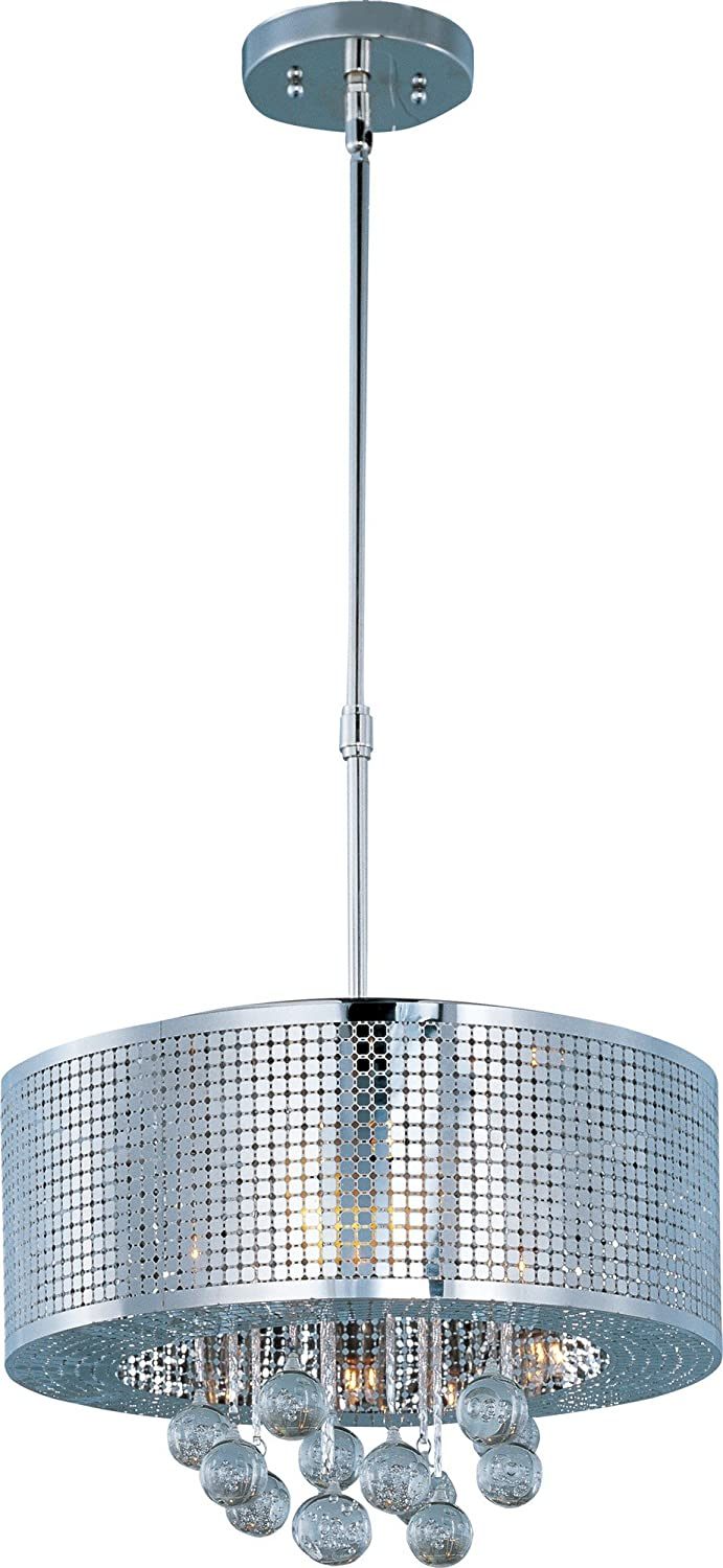 ET2 Lighting E24386-91PC Pendant with Bubble Detailed Glass Shades, Polished Chrome Finish by ET2 Lighting  B0075AYT00