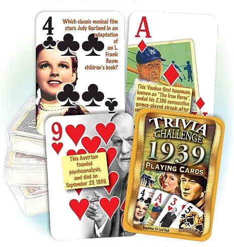 Flickback Media 1939 Trivia Playing Cards: Birthday