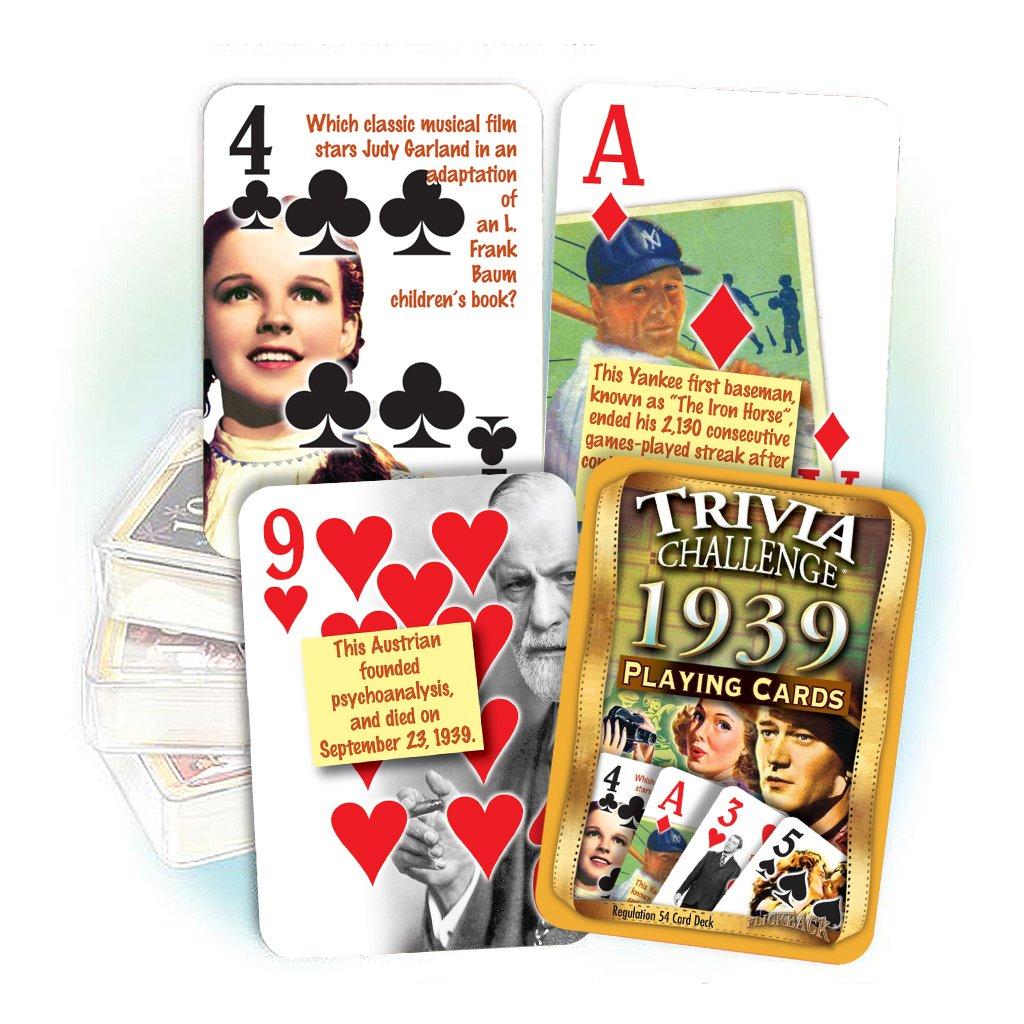 Flickback Media, Inc. 1939 Trivia Playing Cards: 80th Birthday or 80th by Flickback Media, Inc.