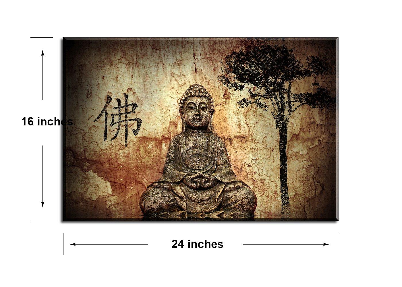 Piy 1 panel buddha wall art zen canvas prints wall décor 1 framed thick waterproof