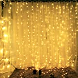 DLPIN 304LED Window Curtain Lights for Wedding Party 9.8ft - Warm White