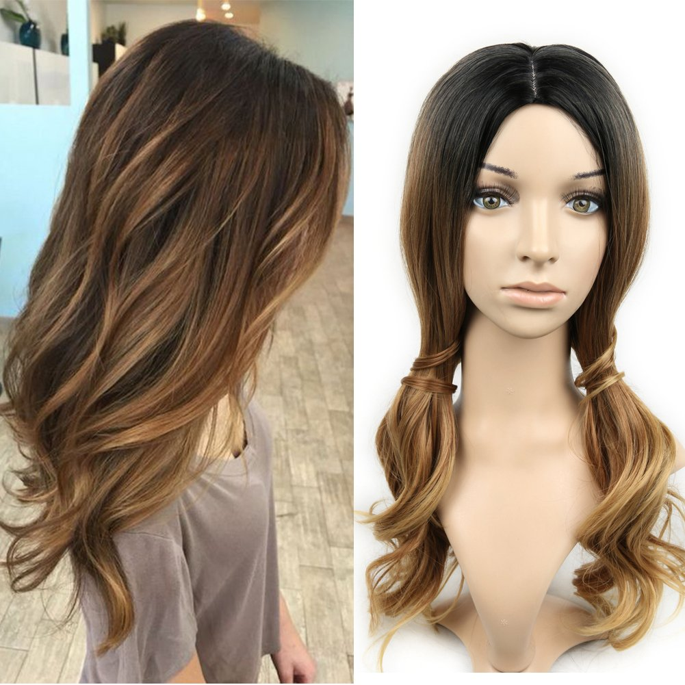 Amazon Synthetic Ombre Wigs For Women Two Tone Black Roots