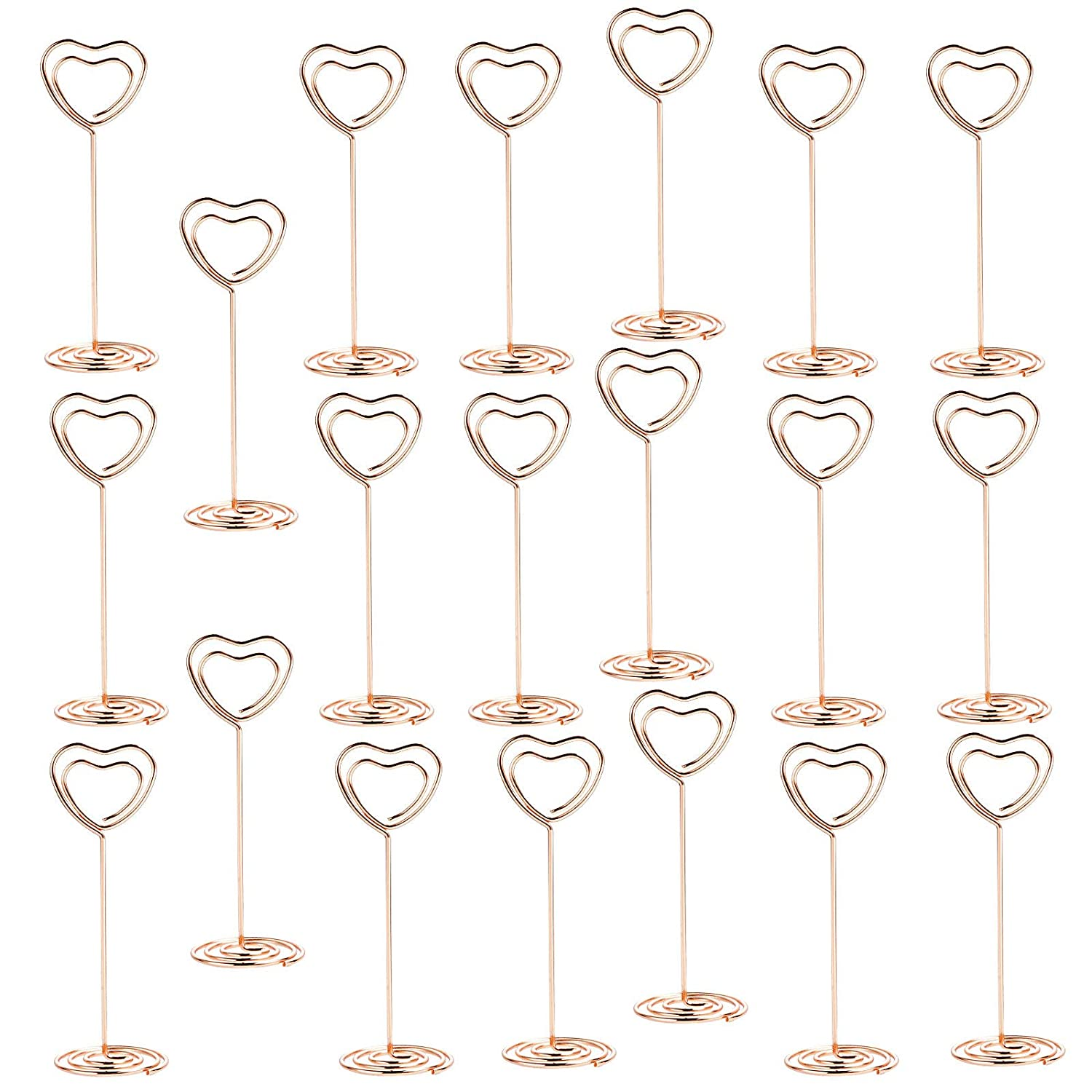 Kmall 6pcs Clear Transparent Butterfly Acrylic Crystal Tongs Tweezers Place Card with Metal Base Shape as Support Memo Photo Clip DIY Photo Holder for Place Card Holder Wedding Favor