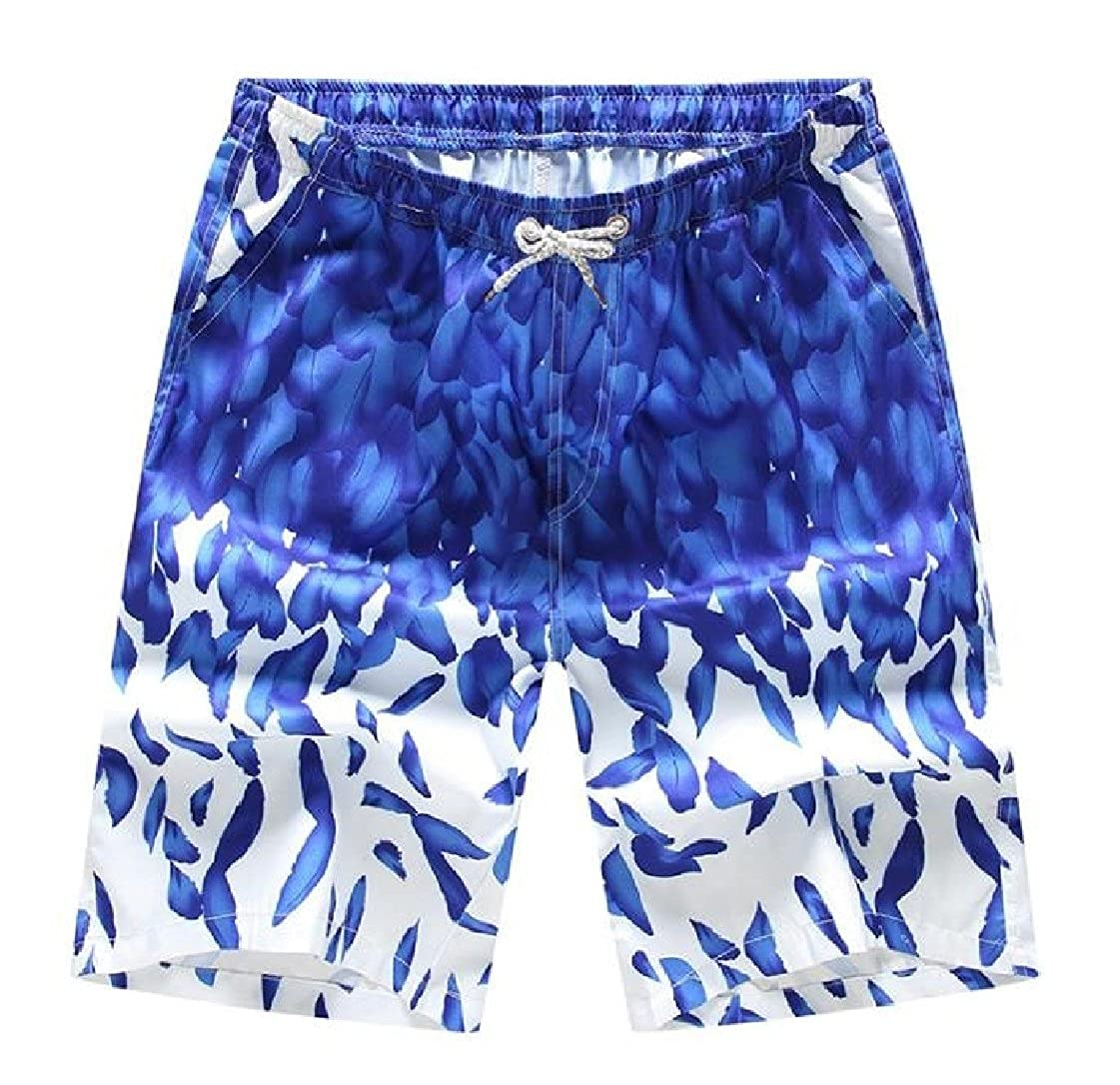 Fieer Mens Cozy Fast Dry Leisure Beachwear Board Shorts Hawaiian Shorts Pants