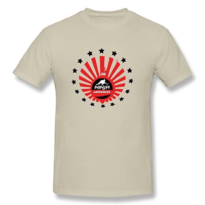 Mens American Ninja Warrior G4 Logo T Shirt Natural: Amazon ...