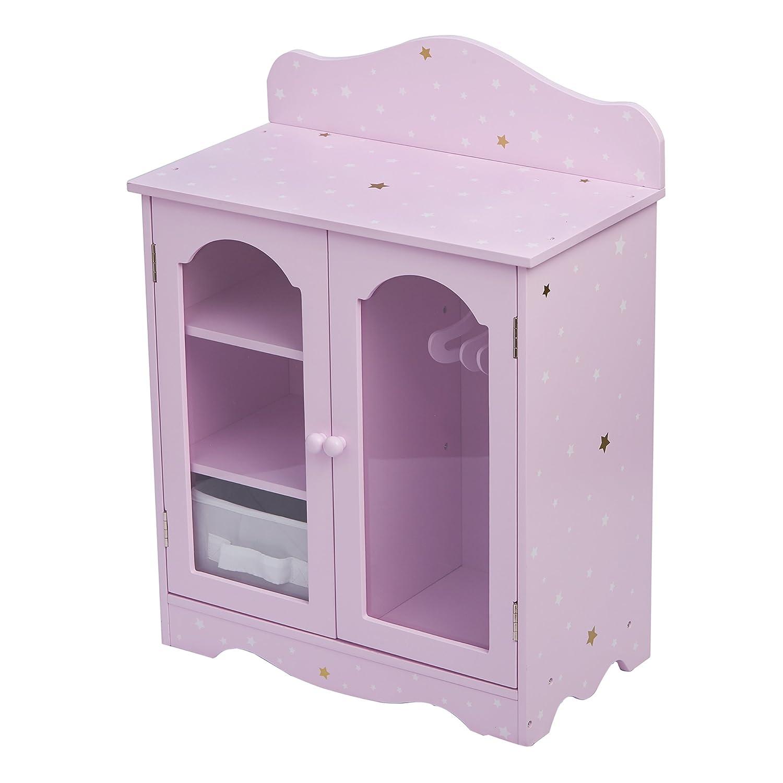 "Olivia's Little World 18"" Doll Furniture Closet, Purple/Gold, 16.75"" x 9"" x 20.75"""