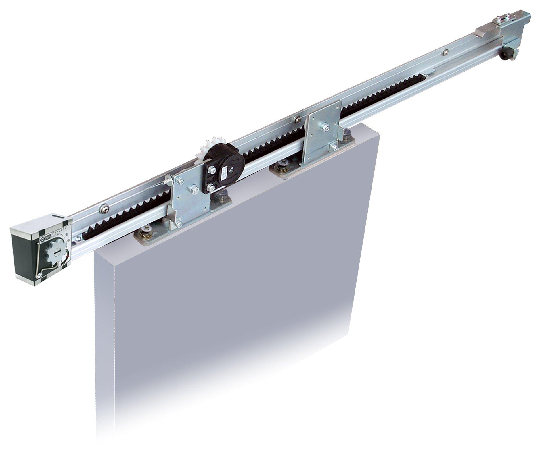 NSC-C60V-22 Sliding Door Closer for barn door (Medium-Heavy Duty Model up to 132lbs doors), Self Closing, Complete System With 86'' Rrail