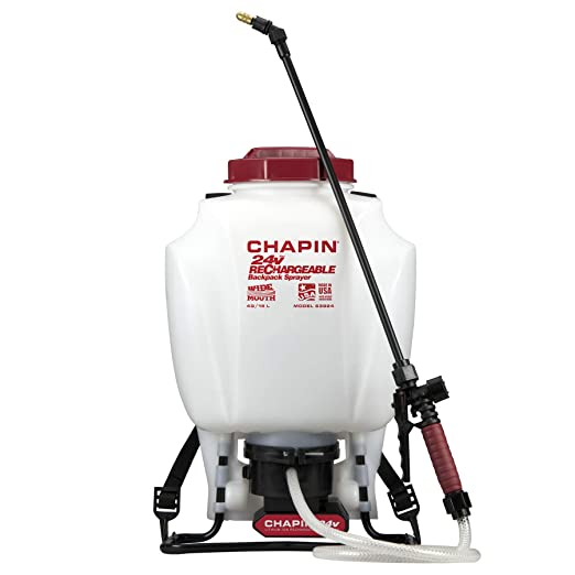 Chapin 63924 4-Gallon 24-volt Extended Spray Time Battery Backpack Sprayer