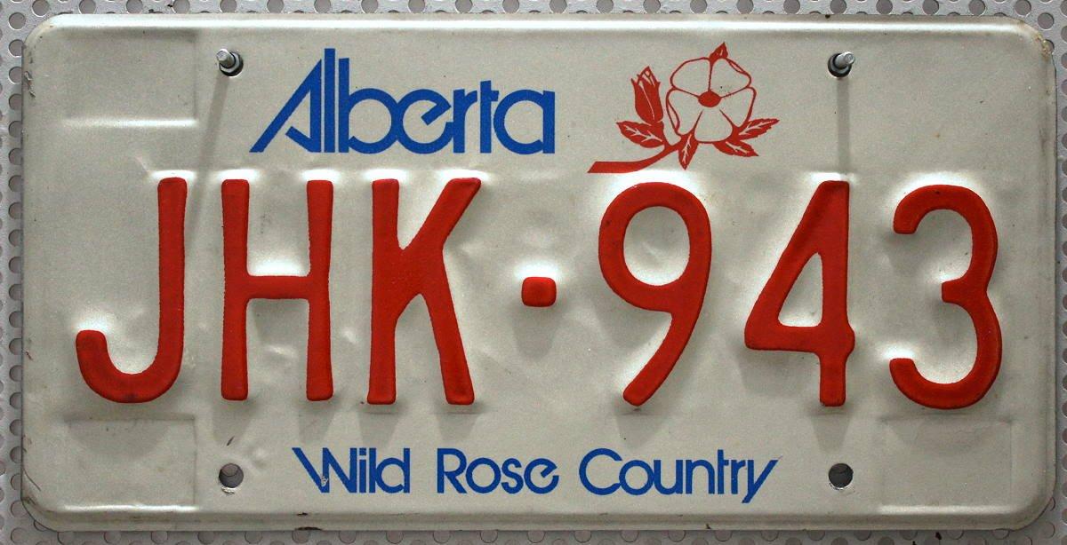 Schild aus Nordamerika # CANADA ALBERTA Nummernschild KANADA Kennzeichen # Auto