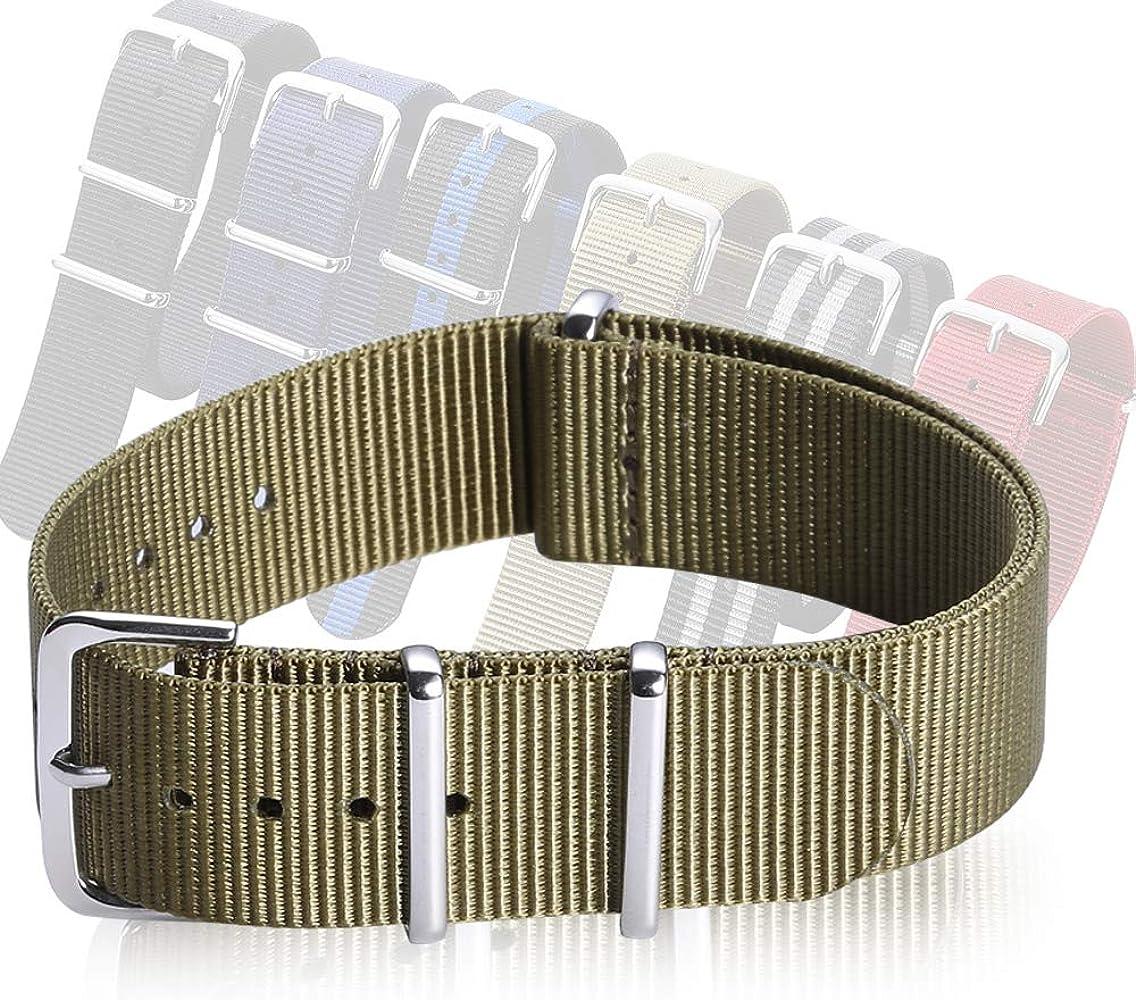 852a3c9a0 Correa de Reloj de la NATO Nylon, Correa de Zulu Correa de Tela Correa de  Reloj Muti Color Anchura 18 mm 20 mm 22 mm CHIMAERA
