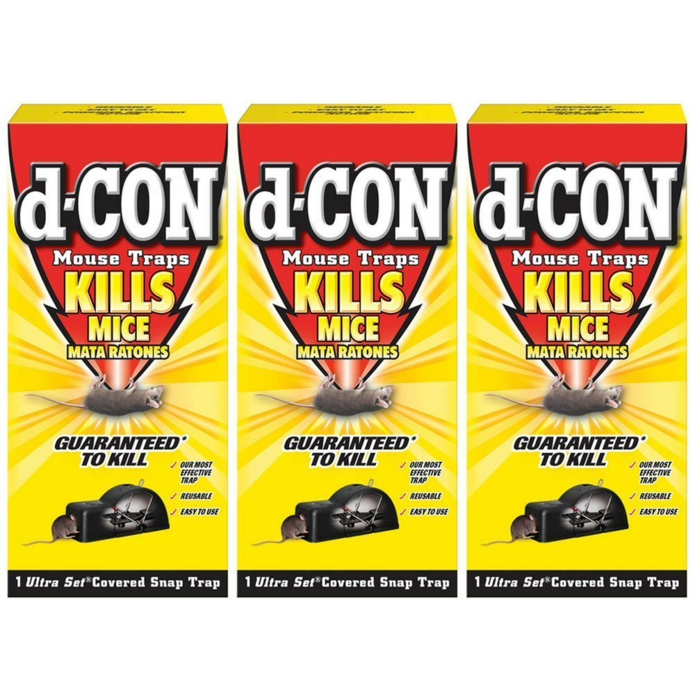 D-Con Ultra Set Covered Snap Trap 1 Ct. Pack of 3