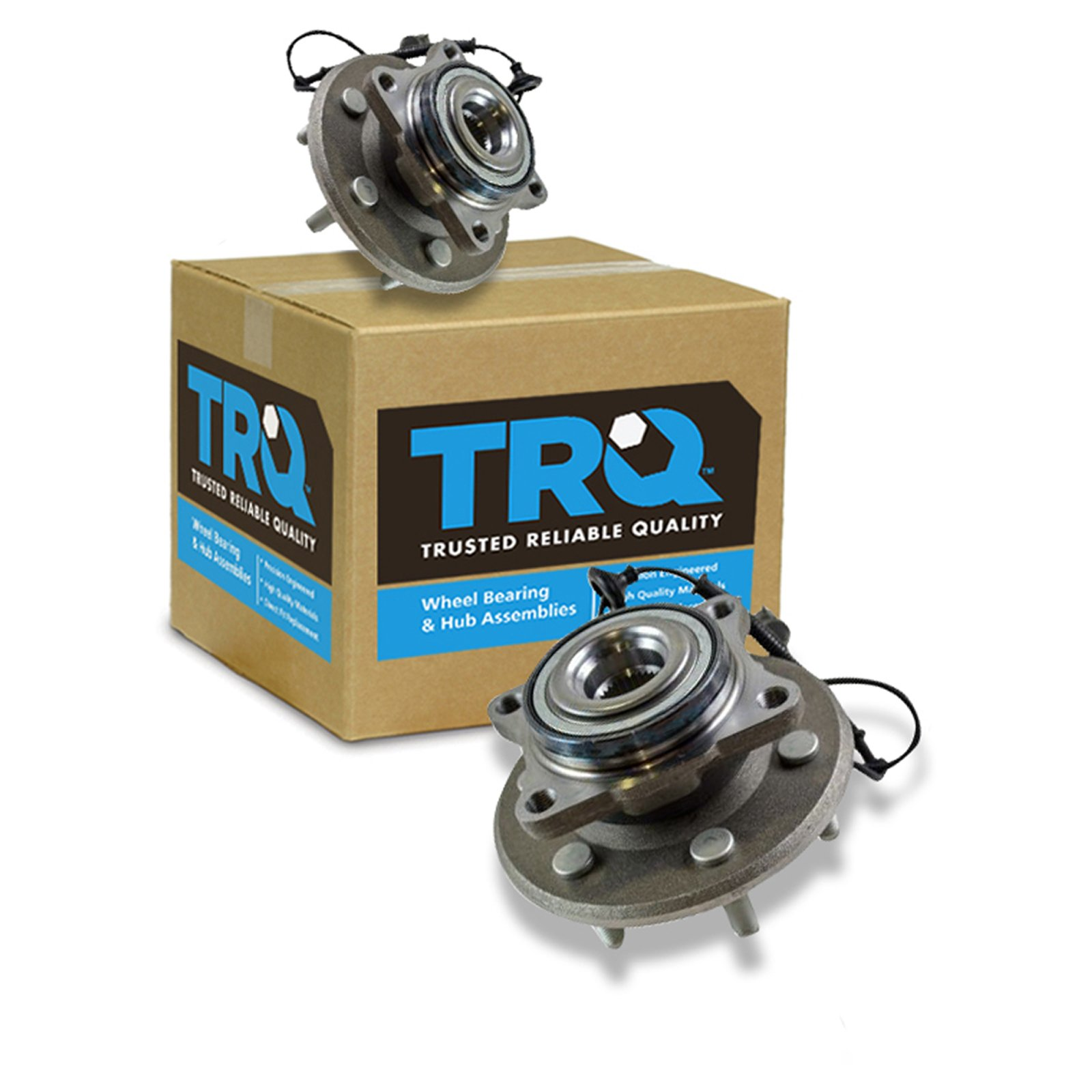 TRQ Rear Wheel Hubs & Bearings Pair Set of 2 for 03-06 Expedition Navigator