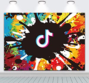 Betta Gratiffi Style TIK Tok Backdrop for Party Decorations TikTok Theme Birthday Party Supplies Photography Background 7x5ft