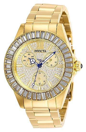 Invicta 28448 Angel Reloj para Mujer acero inoxidable Cuarzo Esfera oro: Amazon.es: Relojes
