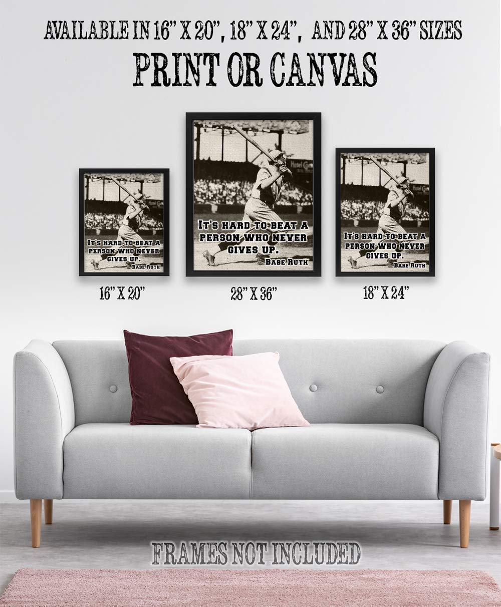 great decor poster it s hard babe ruth