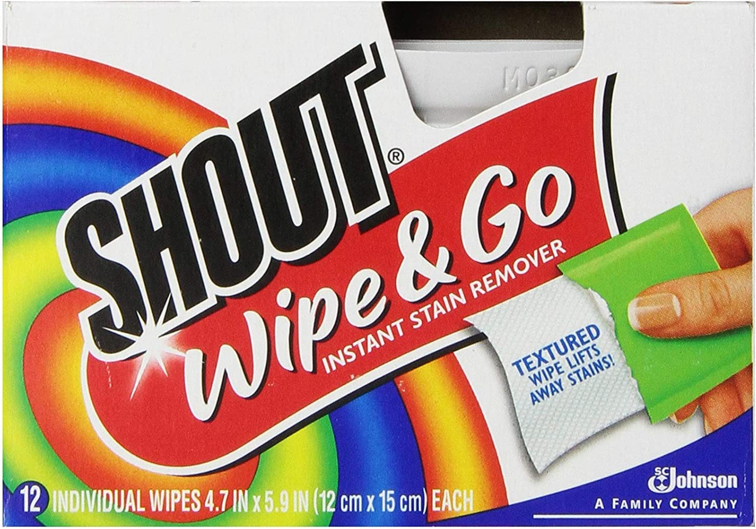 Shout Wipe and Go - Portable Stain Treater Towelettes, 12 Count Each