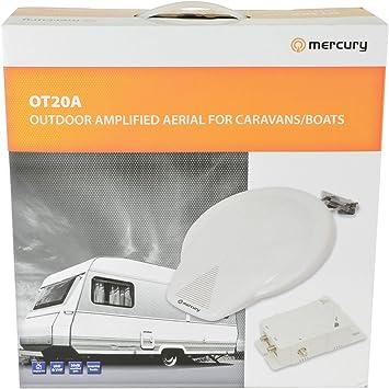 El Mercurio de Camping al Aire Libre y Barco Amplified Antena de TV