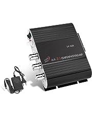 GHB Amplificador Audio coche Mini Amplificador Estéreo para Auto y Casa Uso Dual 200W 2.1 CH