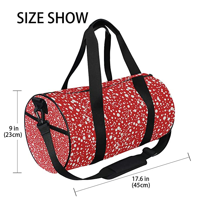 MALPLENA Colorful Dots Drum gym duffel bag women Travel Bag