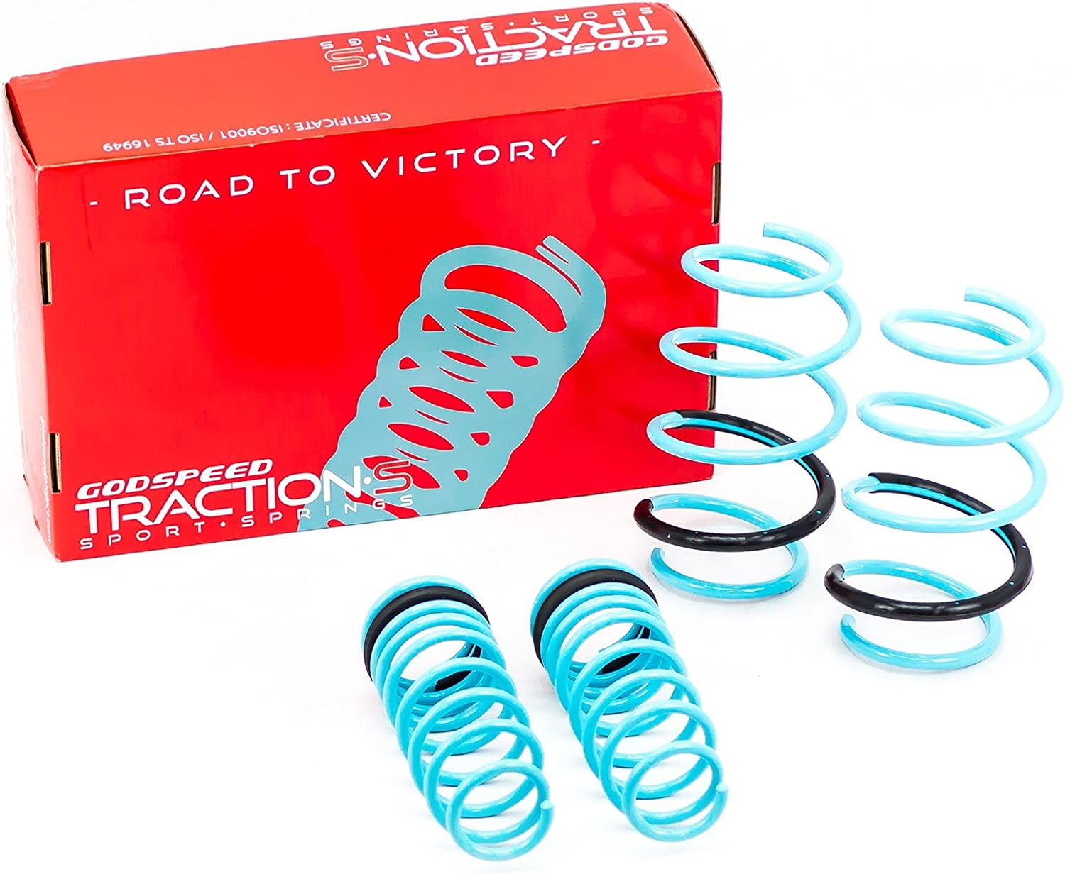E160//E170 Compatible With//Replacement For Brightt GSP-GVF-021 Traction-S Performance Lowering Springs 2014+Up Base Set of 4 fits Corolla