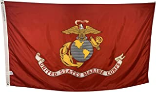 product image for 12x18 U.S. Marine Corps Boat Flag - Durable All Weather Nylon & Reinforced Fly End Stitching - Made in The USA