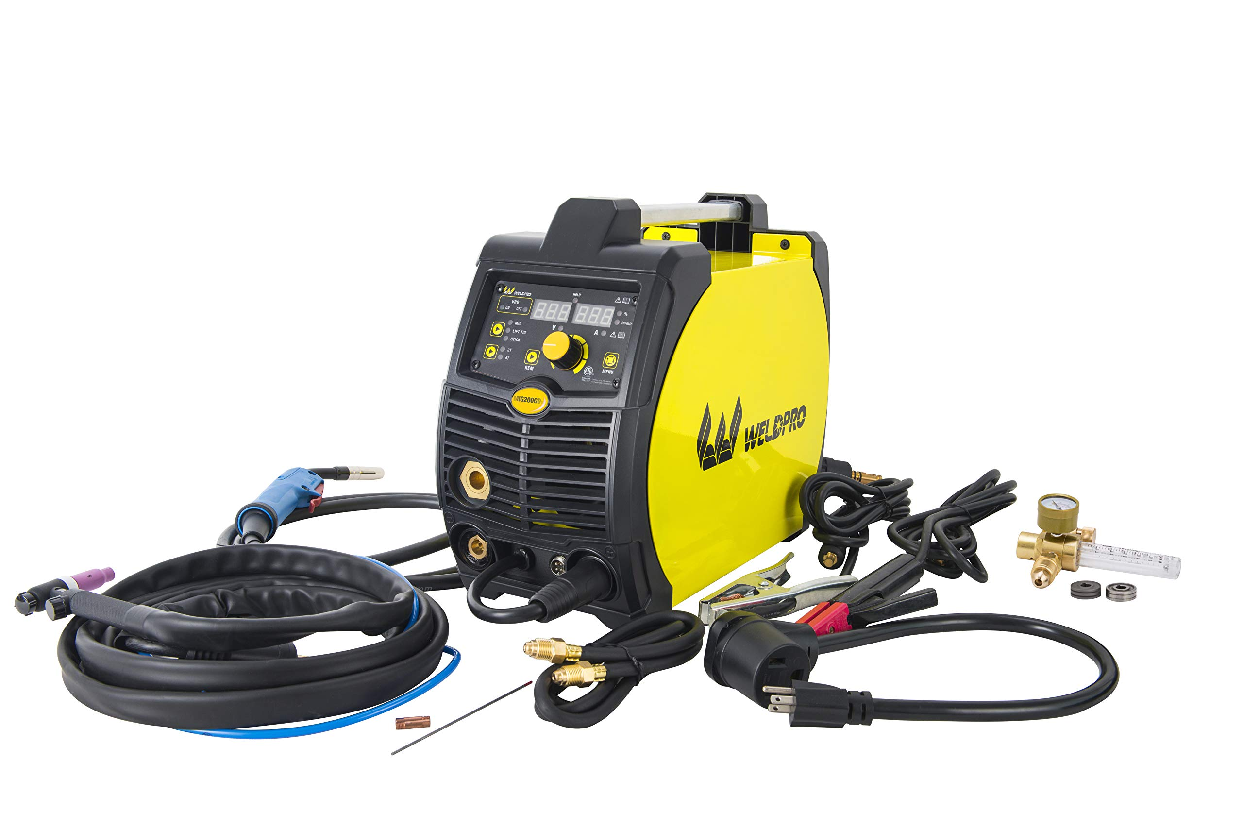 Weldpro 200 Amp Inverter Multi Process Welder with Dual Voltage 220V/110V Mig/Tig/Arc Stick 3 1 welder/welding machine by W Weldpro (Image #1)