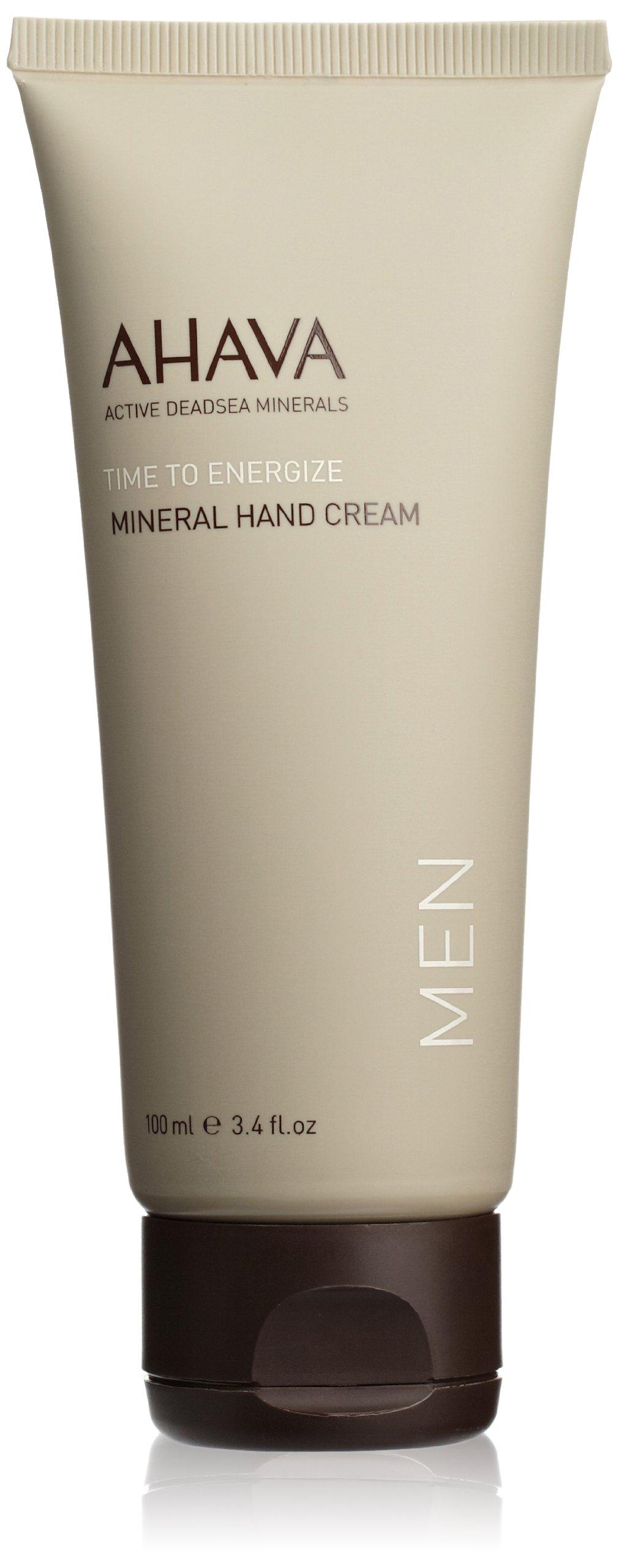 AHAVA Time to Energize Mineral Hand Cream for Men, 3.4 fl. oz.