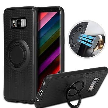 Funda Samsung Galaxy S8, Tronisky Ring Holder Galaxy S8 Carcasa Case 90 Grados Anti-Arañazos Shock- Absorción Galaxy S8 Kickstand Protectora Funda para ...