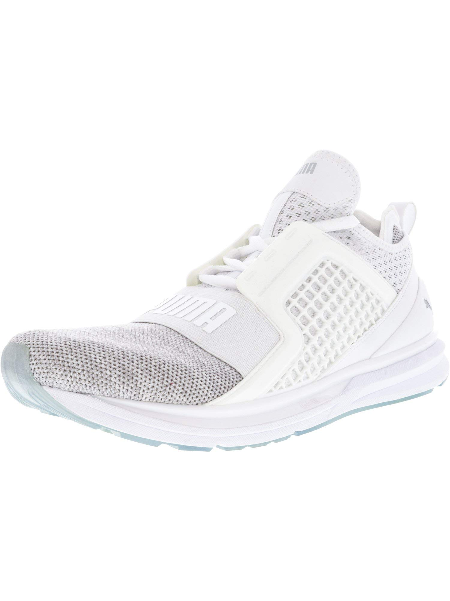 buy popular b8fe0 17842 PUMA Men's Ignite Limitless Knit Sneaker,Puma White/Puma Silver,9 M US