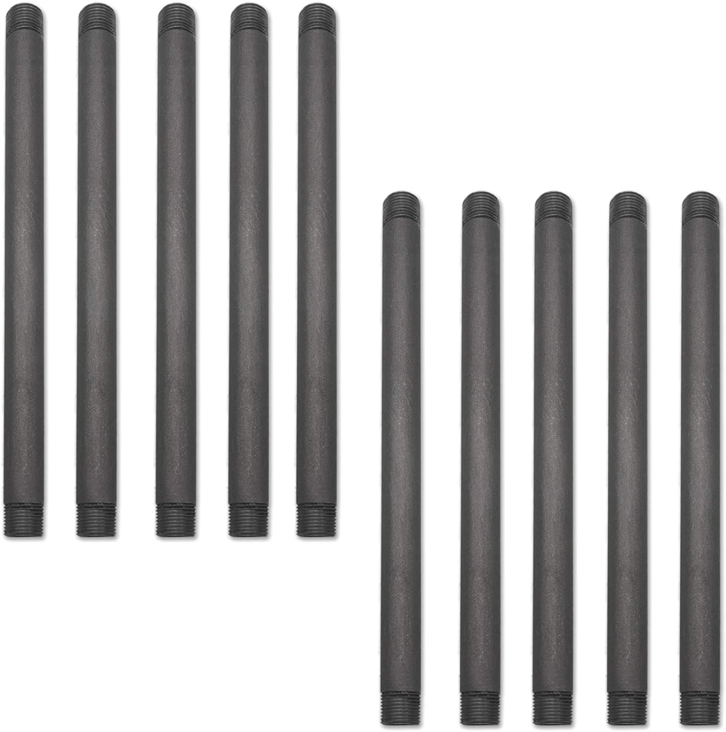 10 Pack Brooklyn Pipe Sandblast Finish 3//4 x 6 Inch Heavy Duty Furniture Grade Steel Pipe for DIY Shelving and Home Decor Projects