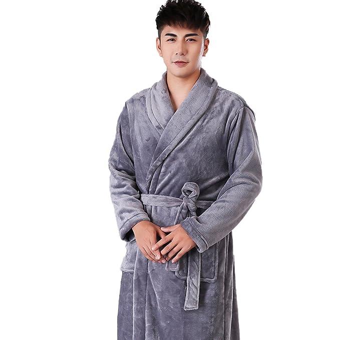 Pijama De Franela De Los Hombres Traje De Albornoz Pijamas Suaves Y Cálidos Terciopelo De Coral