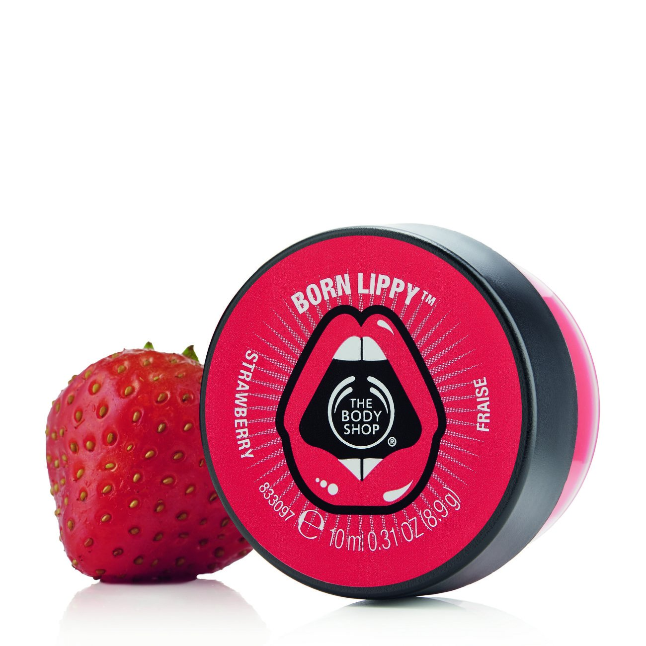 The Body Shop Born Lippy Pot Lip Balm Strawberry