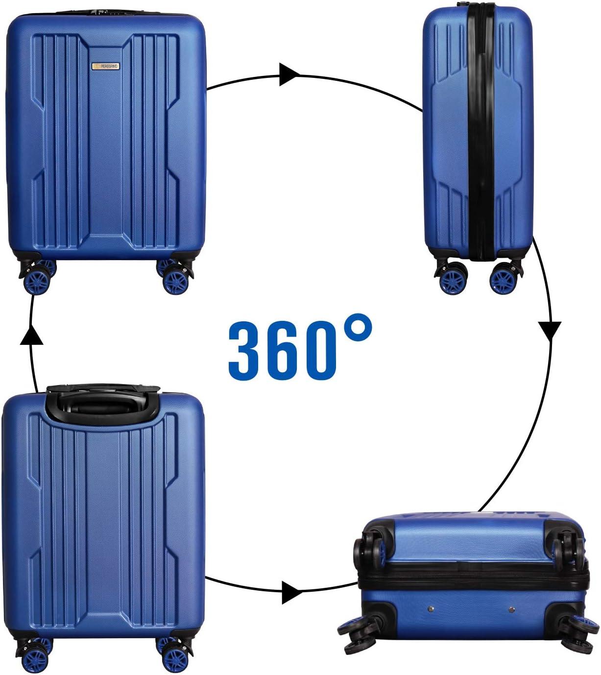Valise de Voyage Rigide Doublure Luxueuse /à 4 Roues Doubles DONPEREGRINO Valise Cabine 55x40x20 L/éger /& R/ésistant