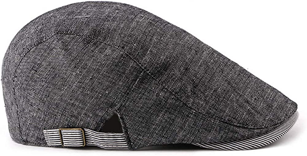 Newboys Hat Gatsby Vintage Irish Cap Unisex Cotton Blend Adjustable Flat Cap Stripe Ivy Duckbill Newsboy Cap