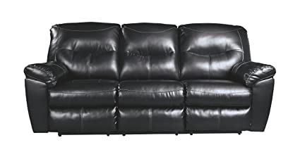 Superbe Ashley Furniture Signature Design   Kilzer DuraBlend Reclining Sofa    Contemporary Reclining Couch   Black