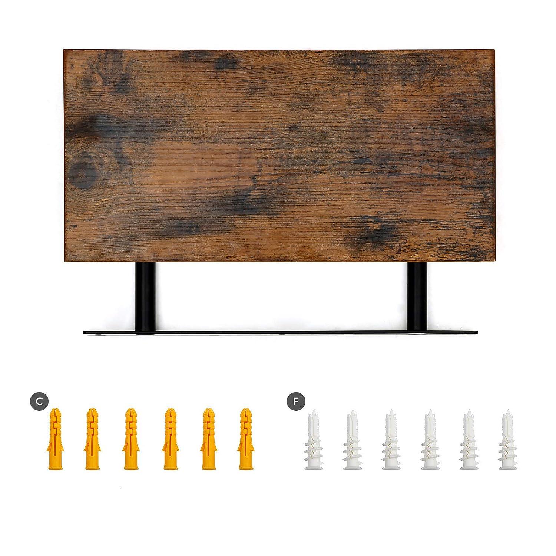 braun LWS24BX VASAGLE Wandregal rustikal Deko Schweberegal H/ängeregal B/üroregal f/ür Bilder Wandboard 40 x 20 x 3,8 cm MDF Holz