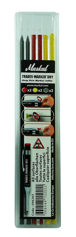 MARKAL 96262 Trades-Marker Dry pack de 6 mines graphite Graphite