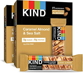 product image for KIND Bars, Caramel Almond and Sea Salt, Gluten Free, 1.4 Ounce Bars, 24 Count