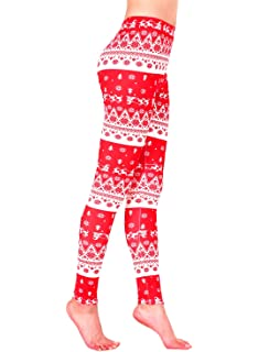 AMORETU Femmes Stretch Multicolore Imprimé Fitness Gym Leggings Pantalon e303c293a24
