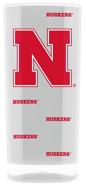 NCAA Nebraska Cornhuskers 16oz Insulated Acrylic Square Tumbler Duck House Sports LTQ