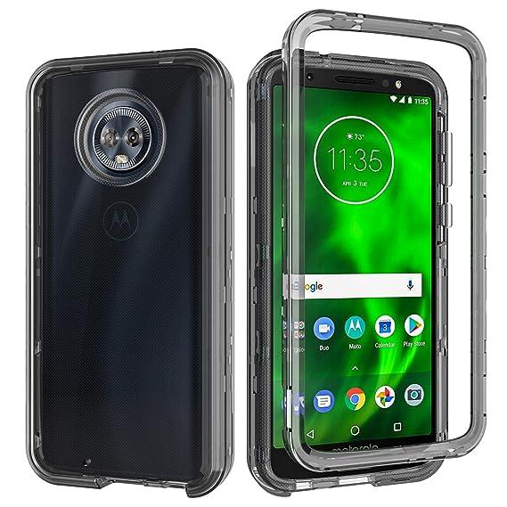 Moto G6 Case,Moto G(6th Generation) Case,SLMY(TM) Heavy Duty Armor Shockproof Resistant Hybrid Soft Silicone Hard PC Cover Case for Motorola Moto G6 ...