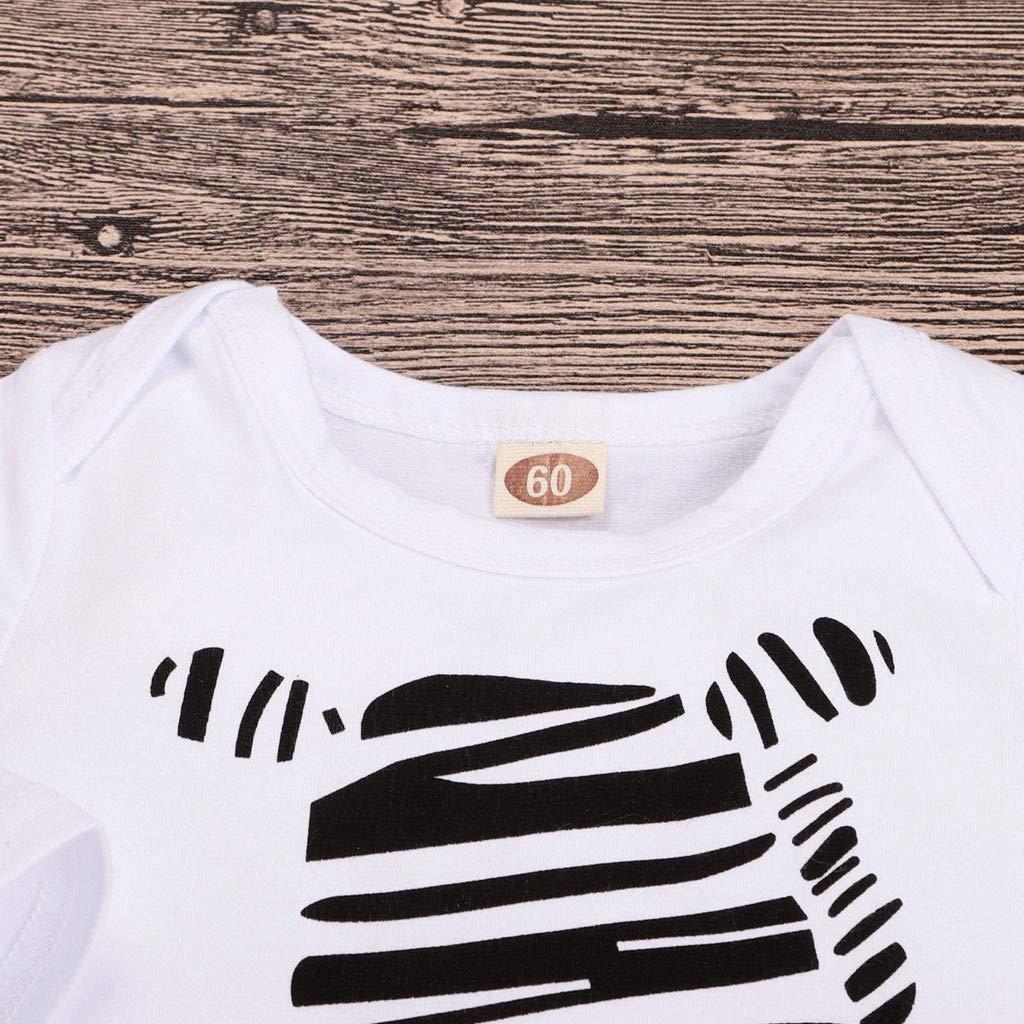 Yogogo Warme Unisex Baby Strampler Zebra Druck Spielanzug Hose Hut Outfits Set Kost/üm Baby Kleidung M/ädchen Jungen 0-6 Monate Lange /Ärmel Nachtw/äsche S/äugling Bodysuit Geschenk Festlich Baby Overall