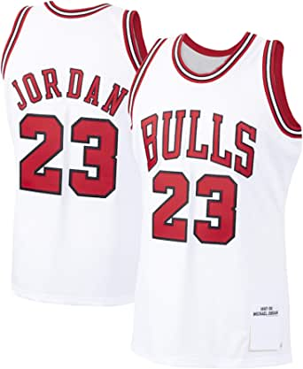 DFGTR Jordan # 23 Camiseta de baloncesto personalizada Michael Bulls Chicago Bulls 1997-98 temporada Hardwood Classics Player Jersey - Blanco