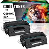 Cool Toner 2 Pack 49X Q5949X 53X Q7553X Compatible Black Toner Cartridge Replacement Used For LaserJet 1320 P2015 P2015dn 1320n 3390 P2015d 1320nw 1320tn M2727nf 1160 3392 P2015n M2727nfs MFP