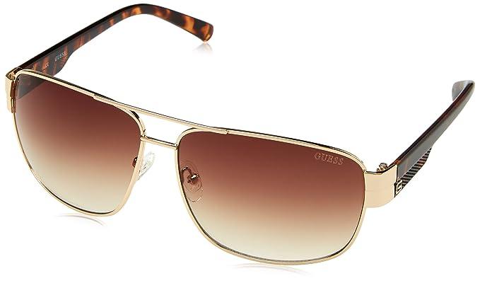 Guess Guf127, Gafas de Sol para Hombre, Dorado, 65