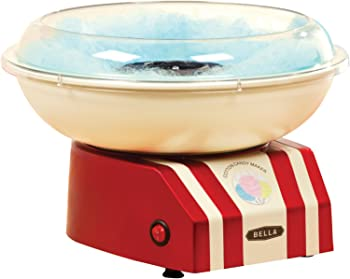 BELLA 13572 Cotton Candy Maker, Red, and White
