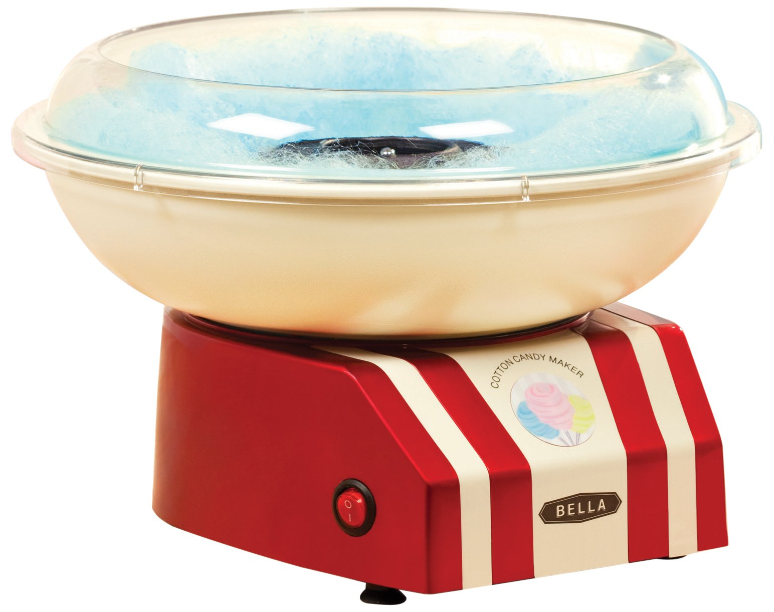 BELLA 13572 Cotton Candy Maker, Red and White by BELLA